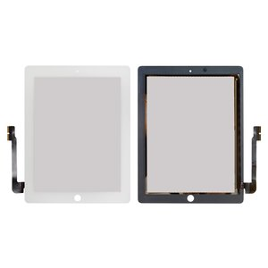 Touchscreen for Apple iPad 3, iPad 4 Tablets, (white)