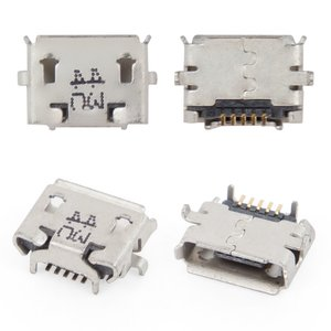 Charge Connector for Cell Phones; Tablets, (5 pin, micro USB type-B, type 10)