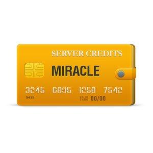 Créditos del servidor Miracle