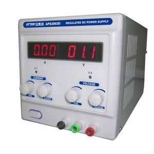 Регулируемый блок питания (3 А, 30 В) ATTEN APS3003D