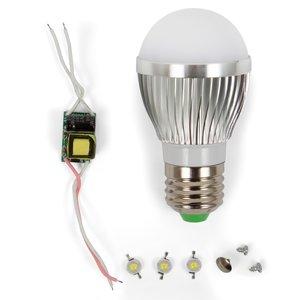 Комплект для збирання світлодіодної лампи SQ-Q01 3 Вт (холодний білий, E27)