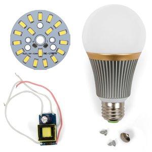 Комплект для сборки светодиодной лампы SQ-Q23 9 Вт (холодный белый, E27), диммируемый