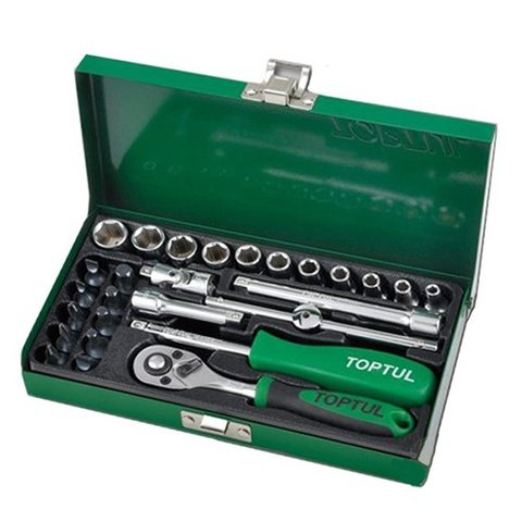 Автомобільний набір інструментів у кейсі TOPTUL GCAD2701