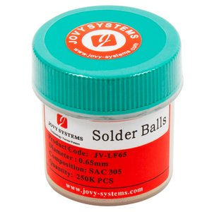 Lead-Free BGA Balls (0.65mm) JOVY SYSTEMS JV-LFSB065