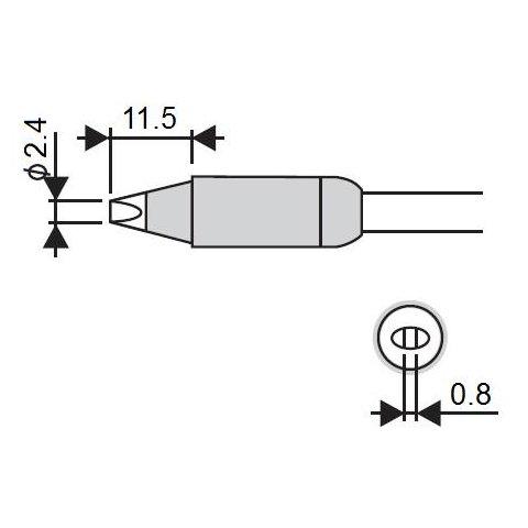 Soldering Iron Tip Goot RX 85HSRT 2.4D