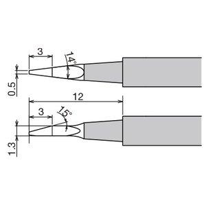 Punta de recambio para pinzas térmicas XST-80HRT-0.5NW