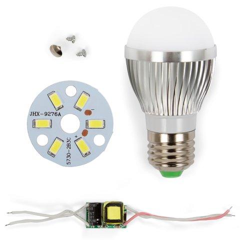 LED Light Bulb DIY Kit SQ Q01 5730 3 W cold white, E27
