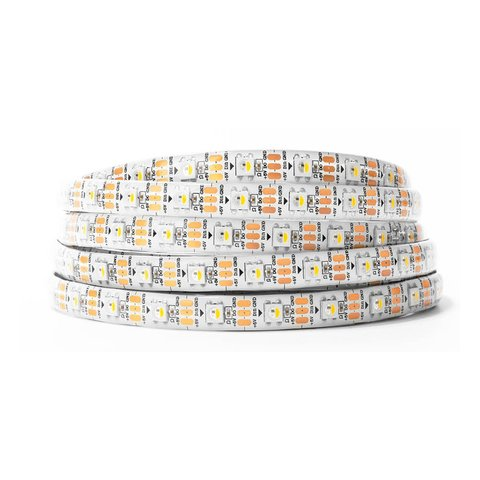 RGBWW LED Strip SMD5050, SK6812 white, with controls, IP20, 5 V, 60 LEDs m, 1 m